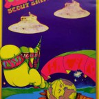 1967 Venusian Scout ships standing by the woods 72x47