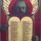 Allen Ginsberg Poem design by Wes wilson photo by Larry Keenan J.R 78x40,5