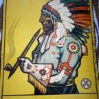 Plaque metal indien Jnka – All – Crüwell – Tabak – VG – Saleté sur les cotés.36,2 x 24