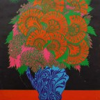 flowers 1967 family dog 51x36