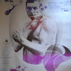 Affiche pour le 21eme festival de chaumont pour expo Paris distrait tant, 139x90 M