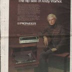 Andy Warhol's Interview Aug. '73 Verso 29x39