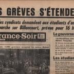 FRANCE SOIR 18 MAI 1968 61x42
