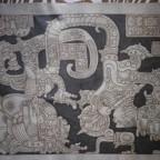 Gravure sur cuir – Mexique – Lintel - Yaxchilan chiapas – 45 x 71,7 – M