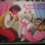Livre pour enfant Le pauvre valet et la reine des chats, G illustration mobile qui sortent du livre, dessiné par Kubasta, Ed mondiales del duca paris 20x26