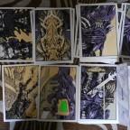 Lot de Cartes postales philippe Druillet « Prélude a une exposition de peintures Galerie Loft Paris1993, signé, 153350, Le pythagore editions, M 15x10,5