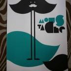 Moustache – affiche de l'ecole d'art superieur de Epinal – M – 65,4 x 39,8