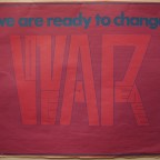 P- Weare ready to change-Love and Peace into War, Kindred spirit press america, Michigan, 1970.48,5 x 63,5
