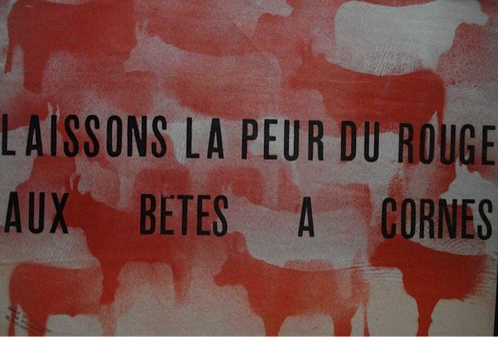 6edaed60343 Elalouf Collection – Contestation » R- Laissons la peur du rouge aux betes  a cornes
