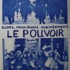 R- Le pouvoir c'est NOUS,front de libération des jeunes, Abexpress, Paris,61,6 x 43,8