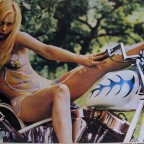 R-Rubia motociclista, Posters Panam, Mexico. 38,5x55
