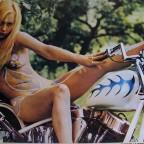 R-Rubia motociclista, Posters Panam, Mexico. 38,5x55