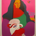 La joconde, Uriburu, lithographie numérotée 57/400 signée au crayon, 75,5x56cm, 360€