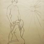 Couple, Mandroy, numéroté 46/50 signé au crayon (à la Trémois), 56x76cm, 100€