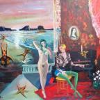 Fernez, Les étoiles de mer 1971, 61x50cm, peinture surréaliste érotique original, 150€