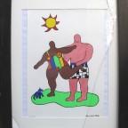 Niki de St Phalle, sans titre, 1999, 50x34 signé dans la planche.170€