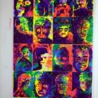 Faces, Allemane, Sérigraphie (screen print) signée à l'encre blanche, 104x66cm, 100€