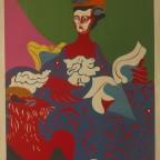 Femme chat, Uriburu, lithographie numérotée signée au crayon, 75,5x56cm, 360€