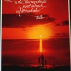 Coucher de soleil, rilke cit, 76,5x53,5cm Original poster, 80€