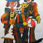 Clowns, Marian Stachurski, Original Polish cyrk poster, 94,5x67,5cm, 180€