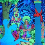 Blacklight Poster by Bob Brockway  The Third Eye 1970, across the Universe  68 x 53 Very good condition, little white creases on the middle of the poster 250 €