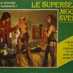 Le Supersexy mogli Svedesi  Film erotic Poster with Patricia Haines 50 x 65 10 € fold in the middle