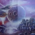 Lot Science Fiction Magazine, fin 70/début 80, Bob Layzell, Philip Lee, Naissance d'une étoile-P. Jpeson, La cité des Illusions - Ursula le Guin  55x40, 30€