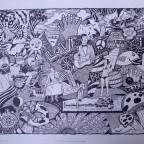 Sérigraphie Yield to love, women's liberation, strike de John A. Litwin, 40,5x50cm