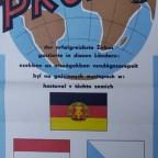 Affiche cirque tchèque - Zirkus Probst 25 ans - 1970, 84x30cm, 13€